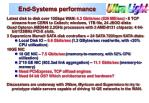 end systems performance