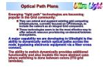 optical path plans
