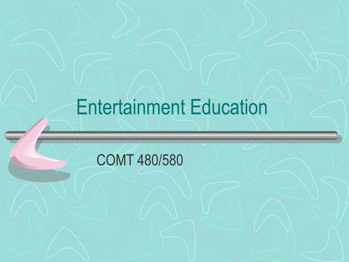 entertainment education n.