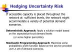 hedging uncertainty risk