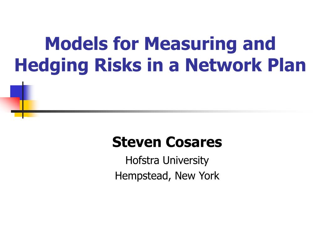 models for measuring and hedging risks in a network plan l.