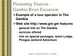 promoting tourism gambia river excursion