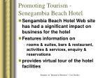 promoting tourism senegambia beach hotel