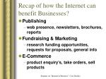 recap of how the internet can benefit businesses4