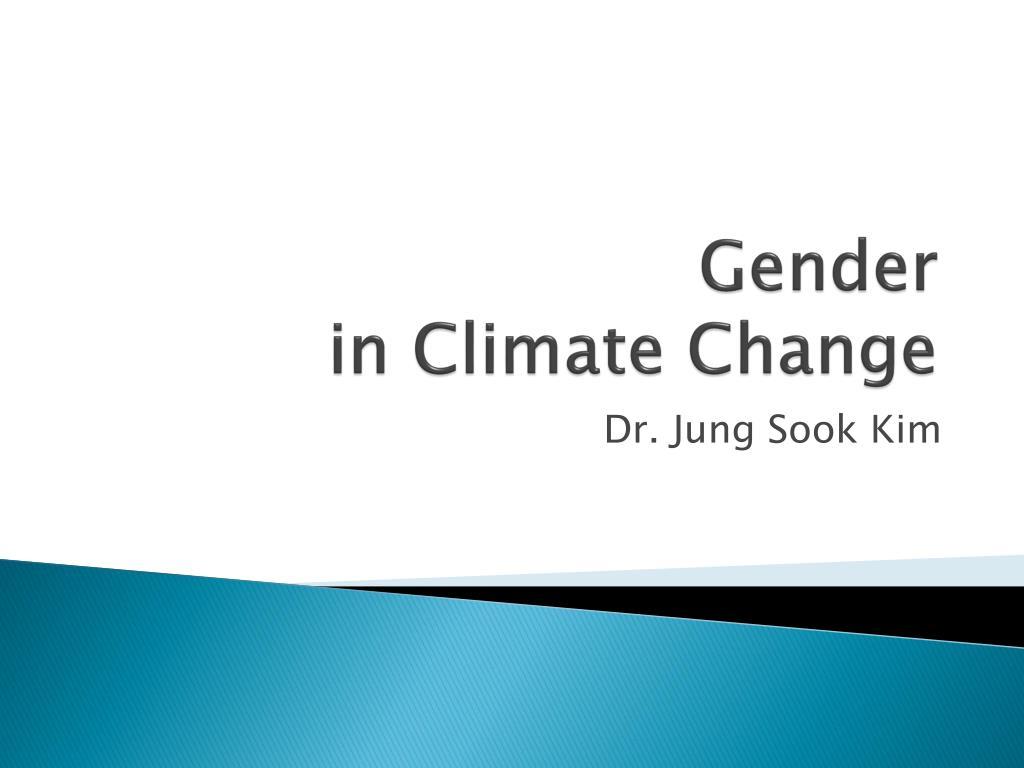 gender in climate change l.
