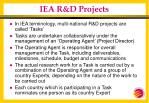 iea r d projects