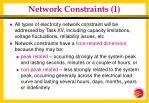 network constraints 1