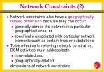 network constraints 2