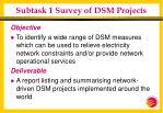 subtask 1 survey of dsm projects