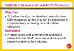 subtask 2 network driven dsm measures