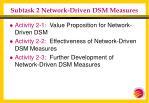 subtask 2 network driven dsm measures19