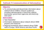 subtask 5 communication of information