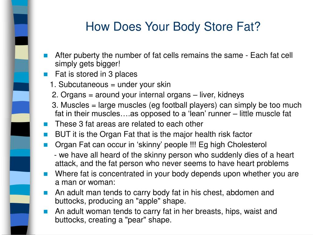 How Does Your Body Store Fat?