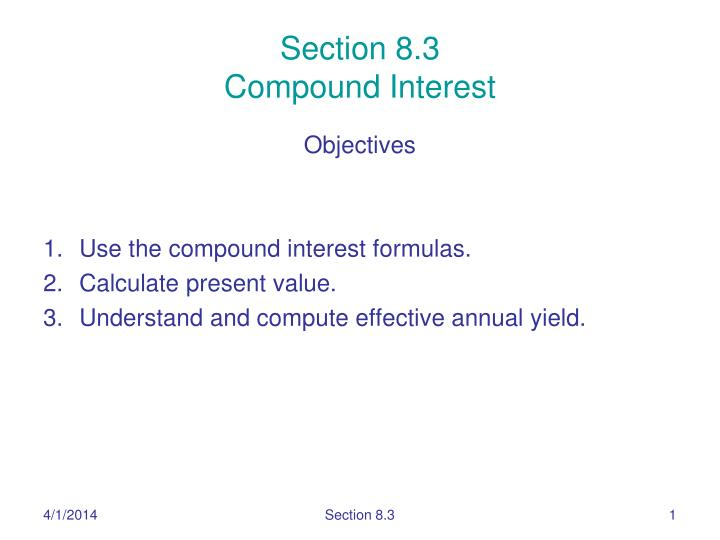 section 8 3 compound interest n.