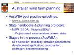 australian wind farm planning
