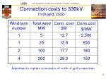 connection costs to 330kv transgrid 2002