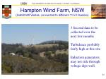 hampton wind farm nsw 2x660 kw vestas connected to different 11 kv feeders
