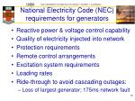 national electricity code nec requirements for generators