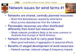 network issues for wind farms 1