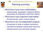 planning summary