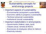 sustainability concepts for wind energy projects