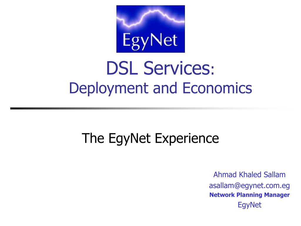 dsl services deployment and economics l.