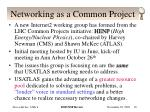 networking as a common project