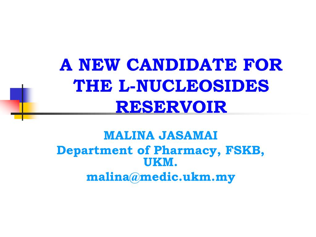 a new candidate for the l nucleosides reservoir l.