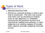 types of work34