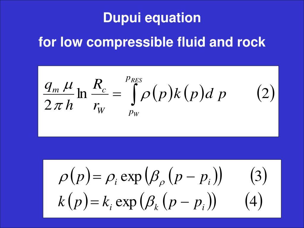 Dupui equation
