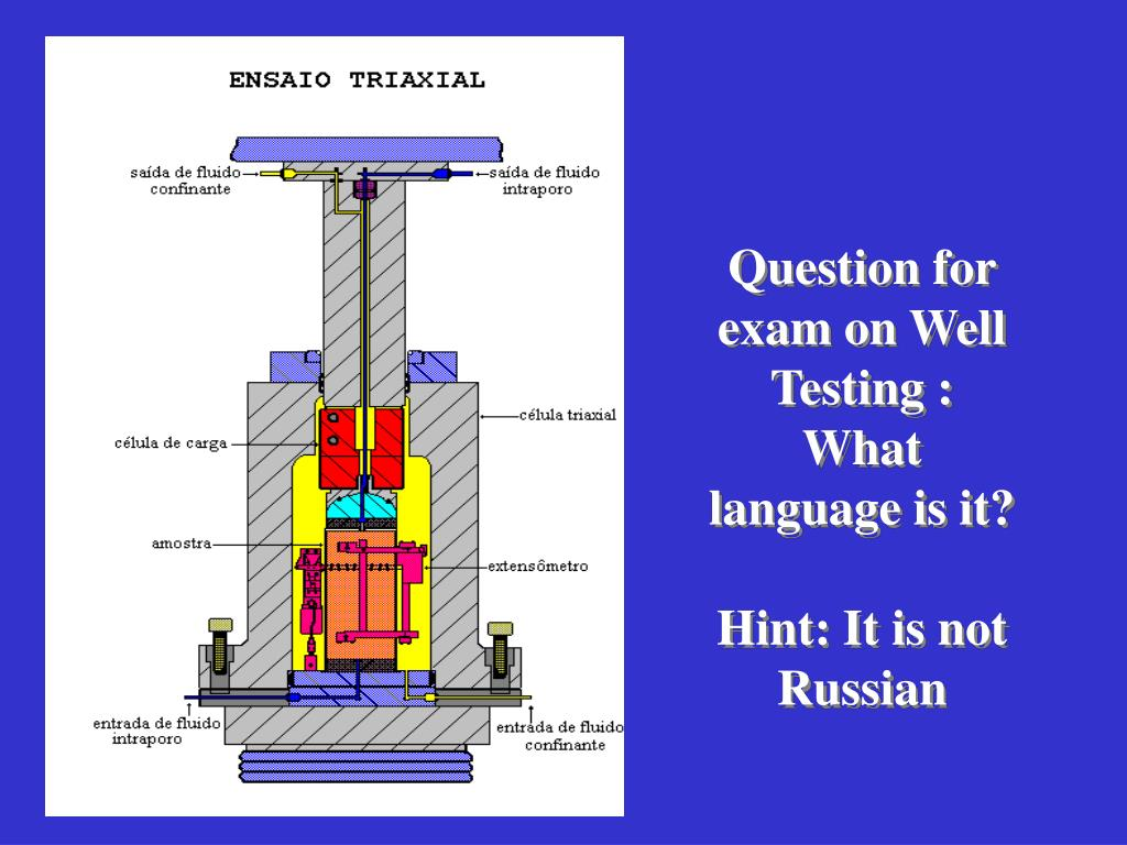 Question for exam on Well Testing :