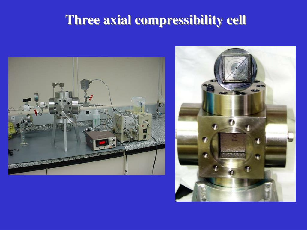 Three axial compressibility cell