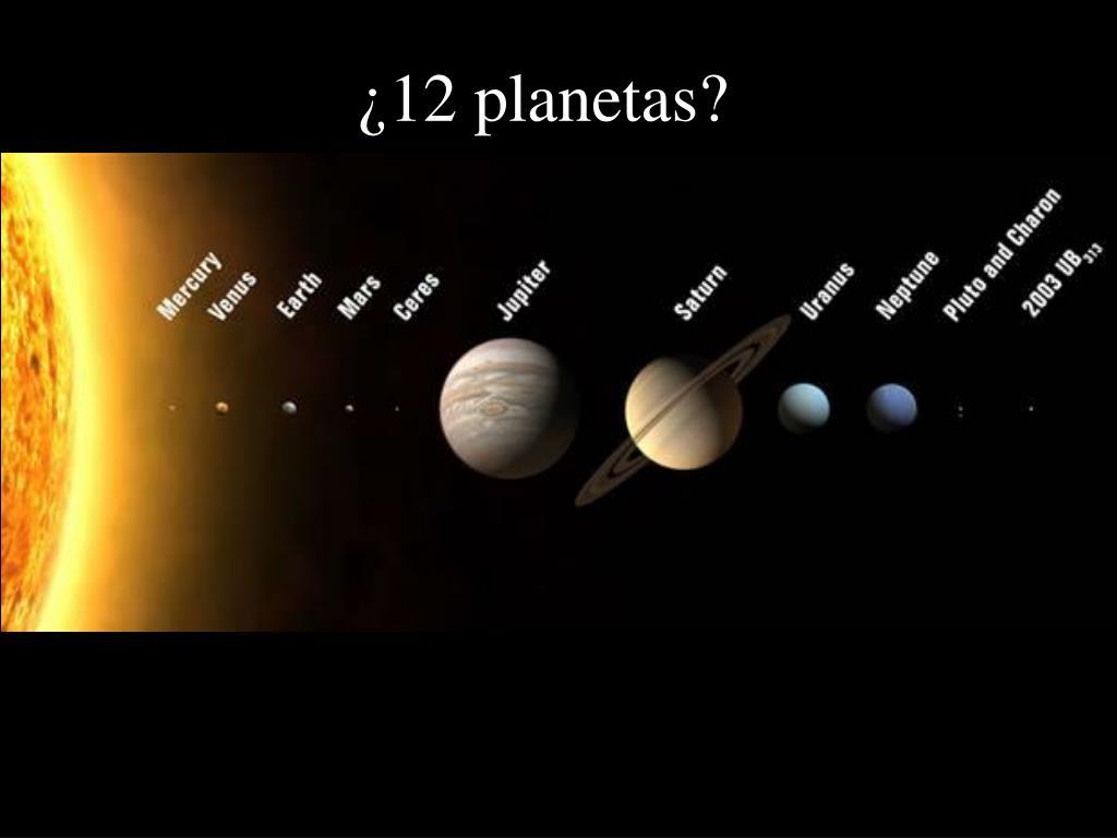 ¿12 planetas?