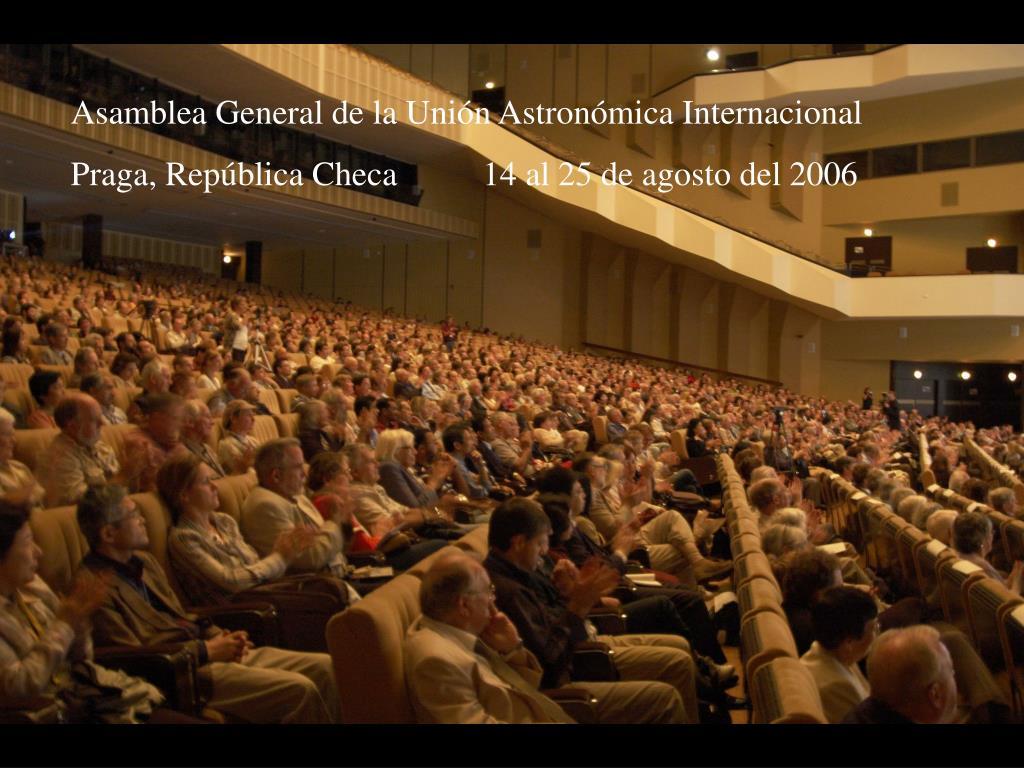 Asamblea General de la Unión Astronómica Internacional