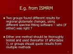 e g from ismrm