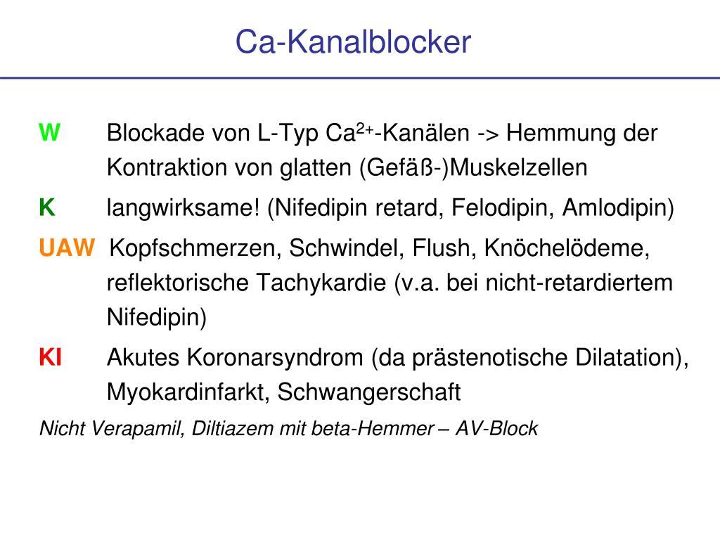 Ca-Kanalblocker