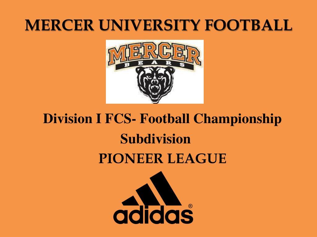 mercer university football l.
