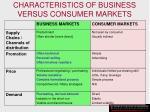 characteristics of business versus consumer markets102