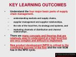 key learning outcomes8