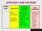 strategy and systems134