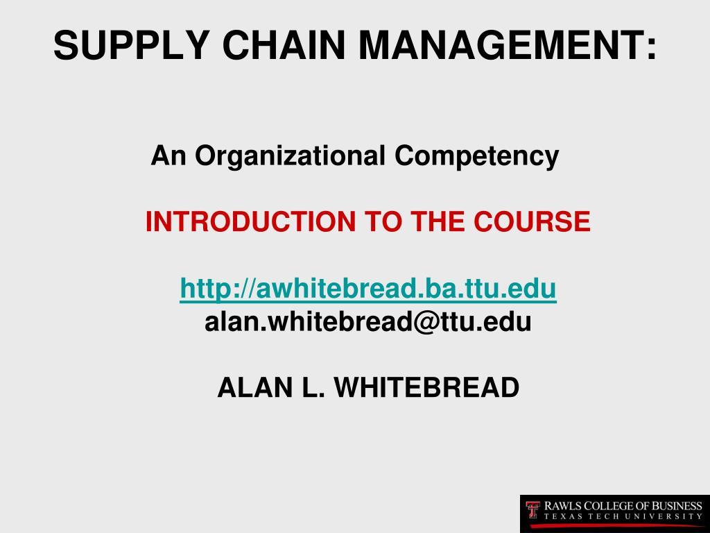 supply chain management l.
