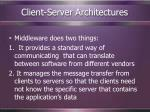 client server architectures72