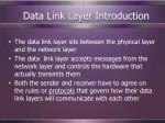 data link layer introduction