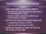 synchronous transmission119
