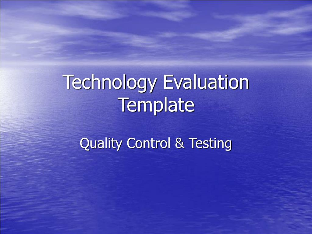 technology evaluation template l.