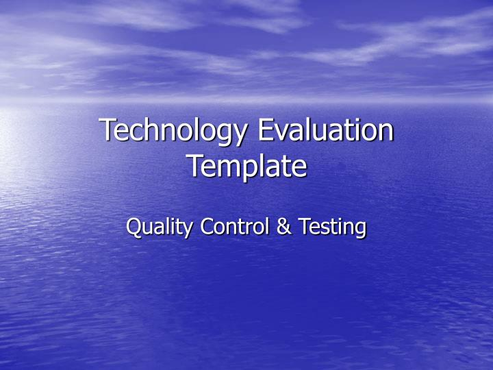 technology evaluation template n.