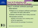steps in evaluating and purchasing software packages21