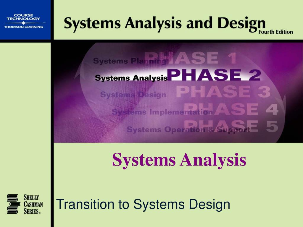 transition to systems design l.