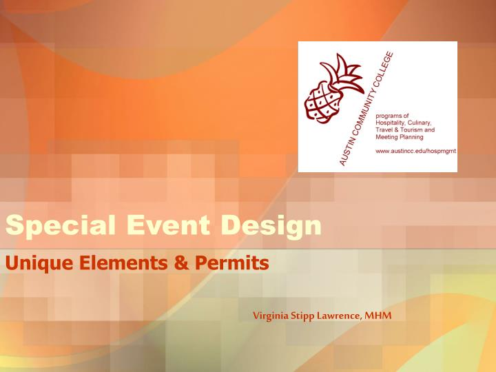 special event design n.