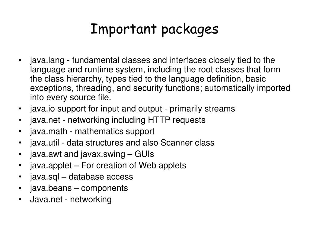 Important packages